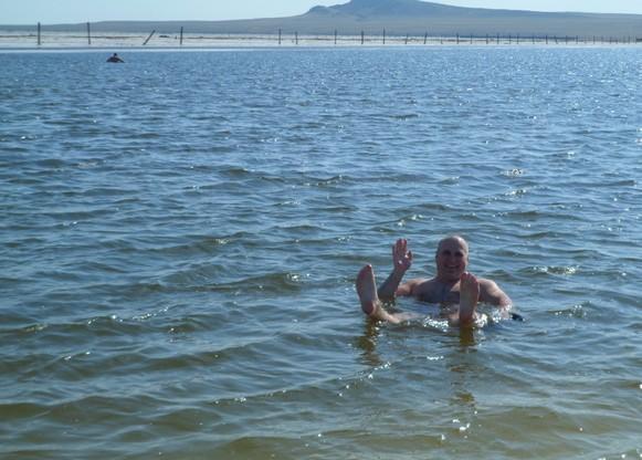 пляж на озере баскунчак