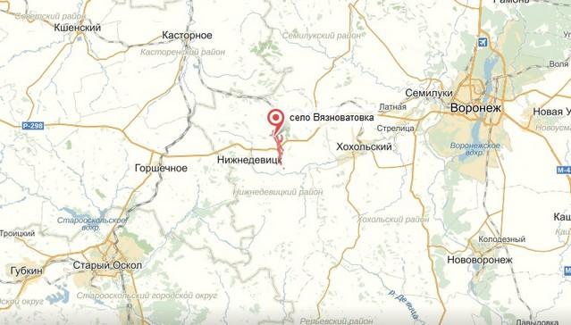 карта трассы р298 пробка