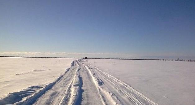 зимняя трасса салехард - надым
