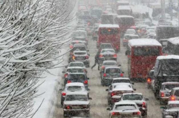 дорога м10 зимой