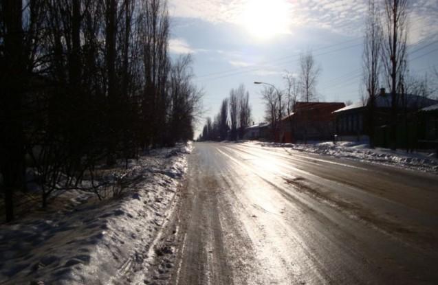 скользкая дорога на ставрополье