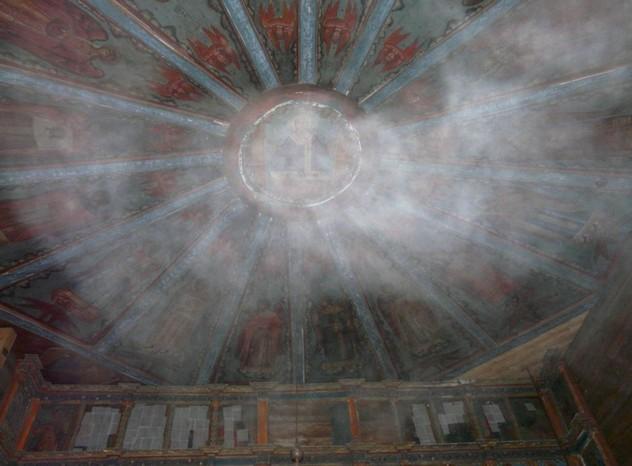 потолок церковь в кондопоге