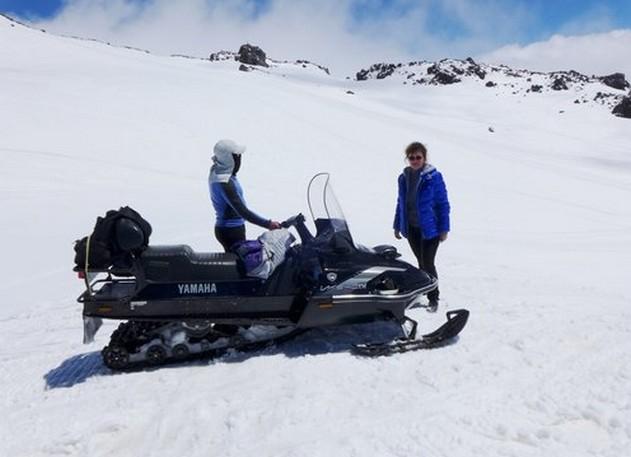 снегоход в горах