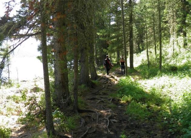 Тропа к среднему озеру