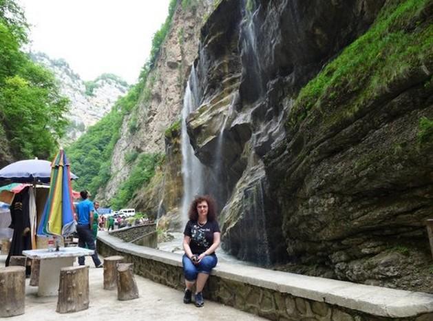 путешествие на машине Чегемские водопады