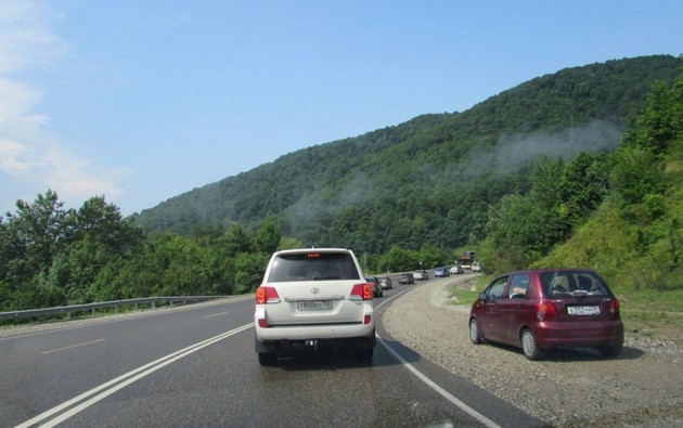 трасса м4 в горах