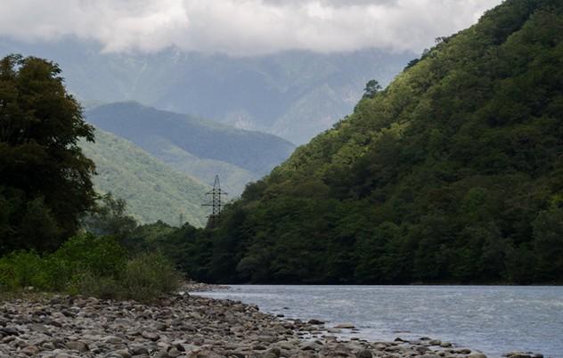 горная река бзыбь