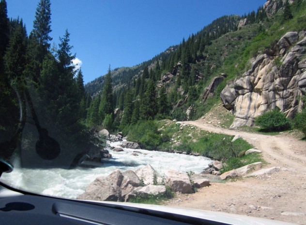 дорога на озеро иссык куль