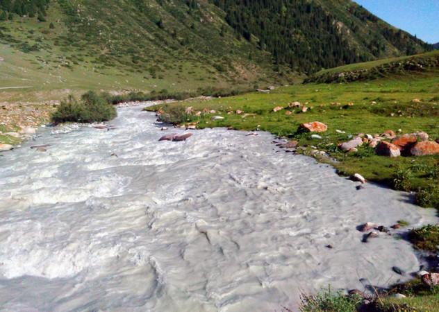 горная река в киргизии