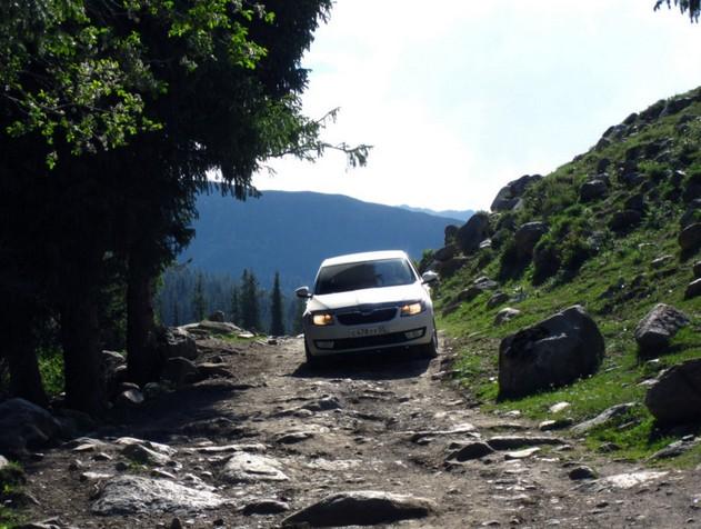 поездка по горной дороге