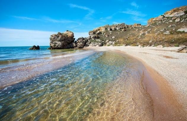 путешествие в крым чистейший пляж