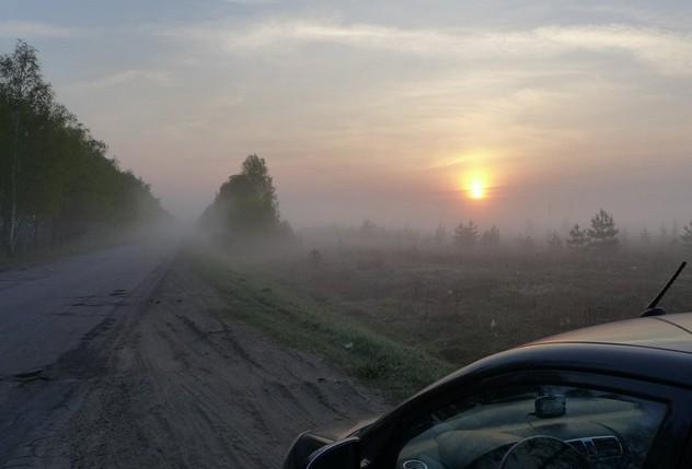 утро на дороге рязанская область