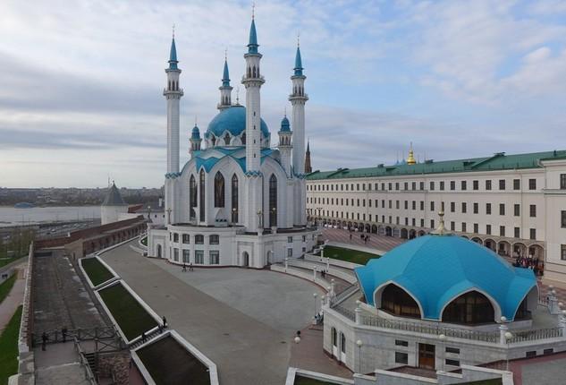 со стен кремля