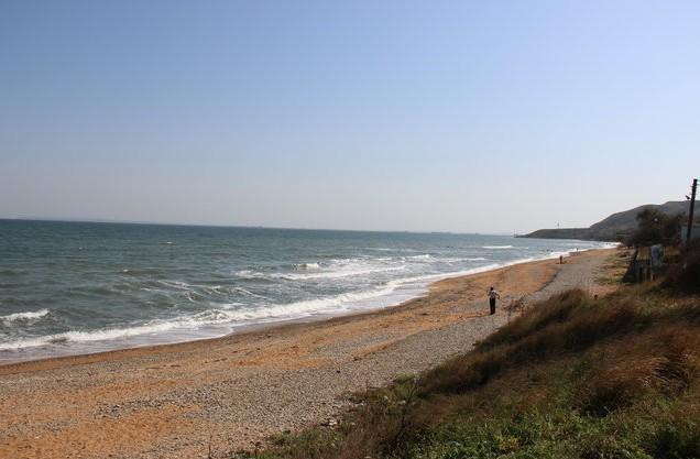 азовское море пляж на маяке