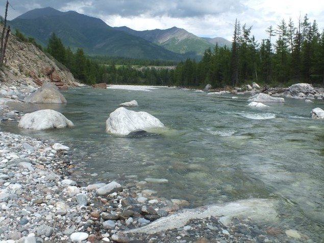 река иркут в тункинской долине
