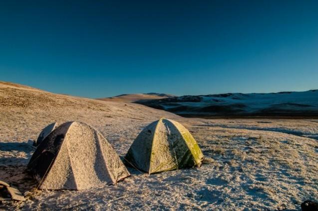 палатки после заморозков