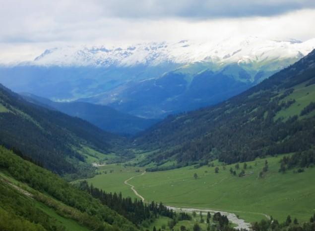 кавказкая горная дорога