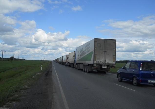 пробка по дороге на алтай