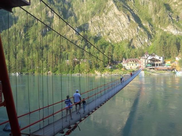 подвесной мост через катунь