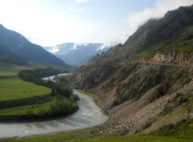 первое путешествие на алтай горная дорога