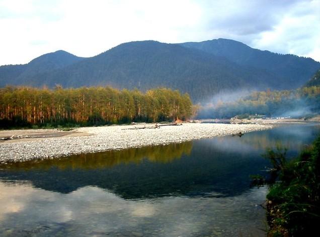 поездка на реку снежная байкал