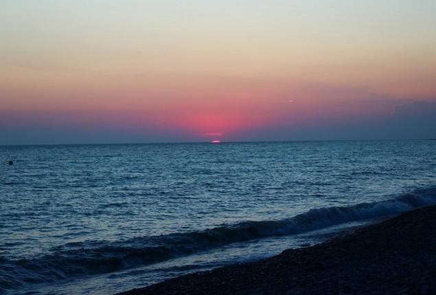 закат на море в сочи