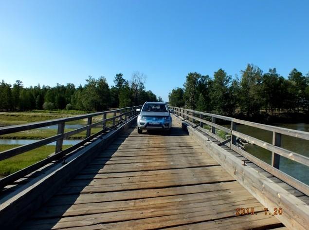 деревяный мост на умхей