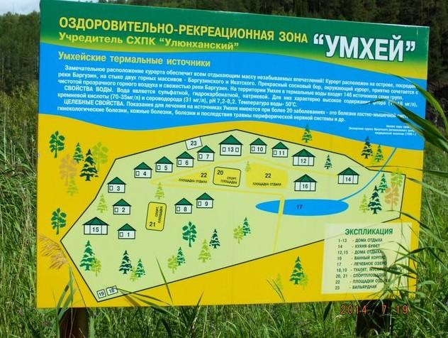 стенд с описанием курорта Умхей
