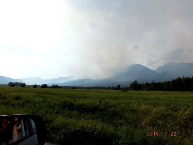 дым от пожаров по дороге в аллу