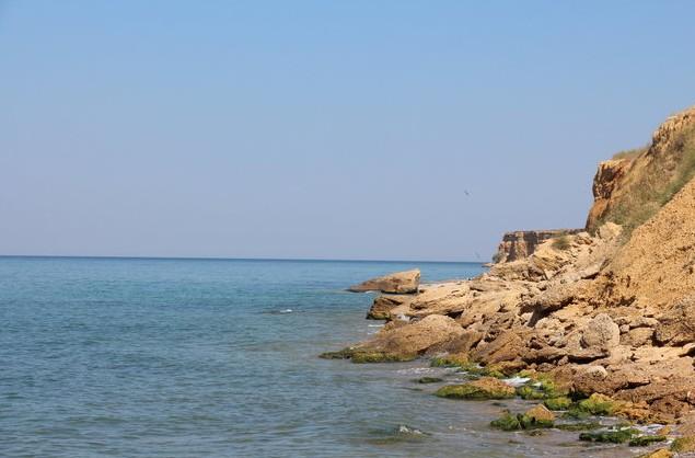 обрывистые берега в крыму