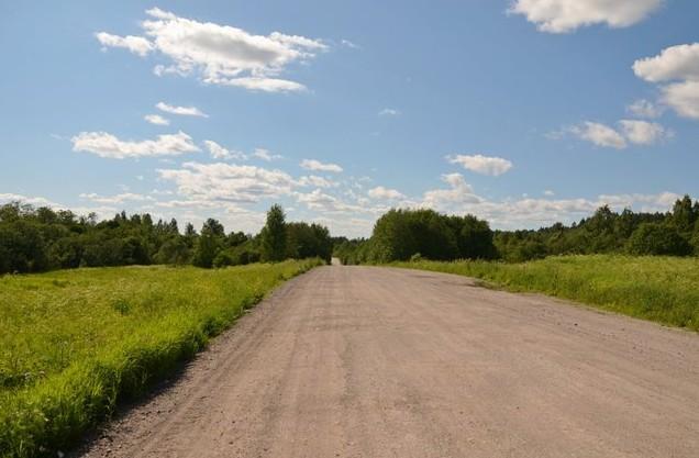 поездка на север грейдер дорога