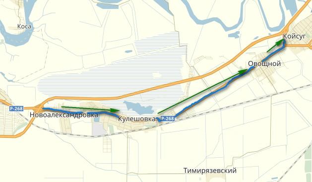 объезной маршрут возле Азова