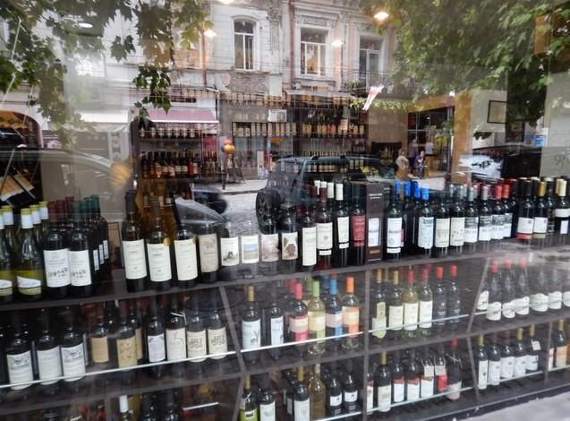 винный магазинчик в тбилиси