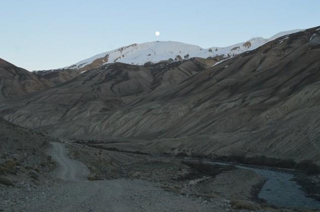 ночевка на берегу реки Памир