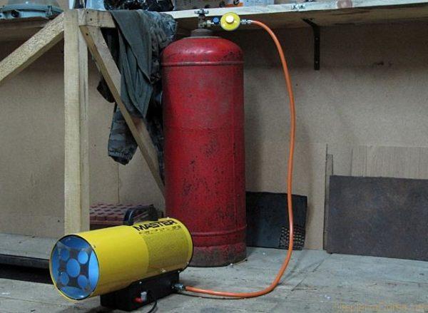 Обогрев при помощи газа