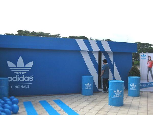Магазин Adidas в виде коробки
