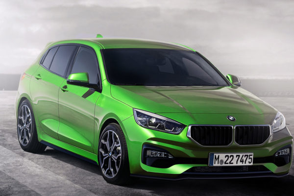 зеленый БМВ