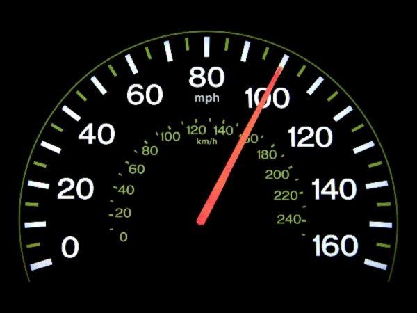скорость на машине должна быть предельной