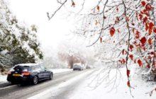 sneg na doroge