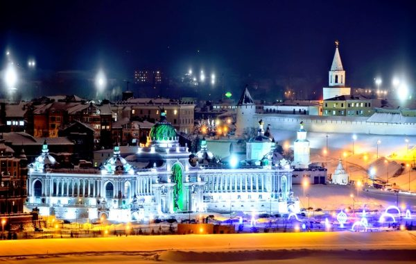 Поездка по вечерней Казани