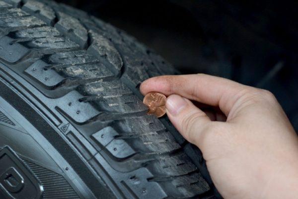 проверка износа шин