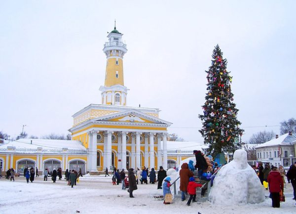 зимние гуляния в Костроме