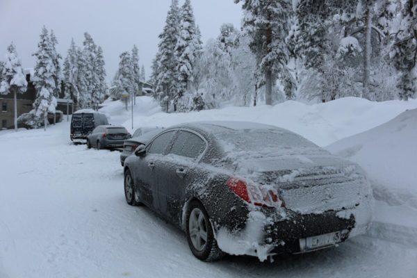 поездка зимой на машине