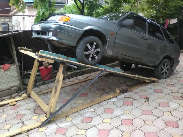 Ремонт авто без домкрата и ямы: полезные советы и способы подъема машины