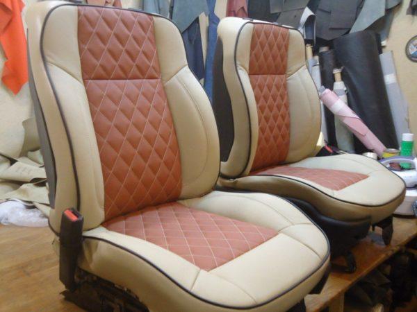 автомобильные кресла после замены обивки